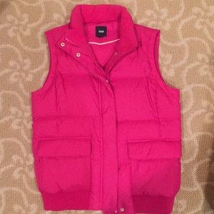 Fuchsia pink Gap puffy vest